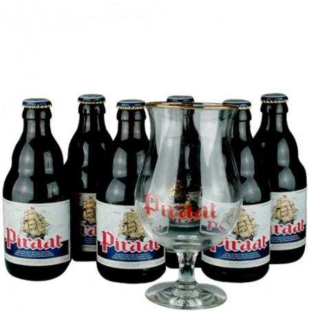 Lot de 6 Piraat 33 cl + 1 verre