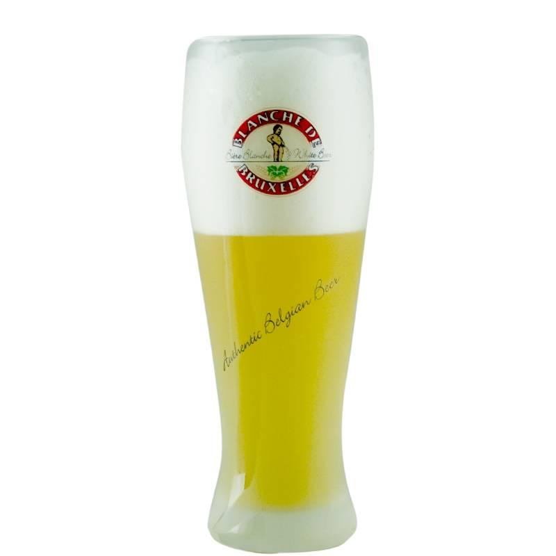 verre à bière blanche de bruxelles 50 cl - achat / vente de verres