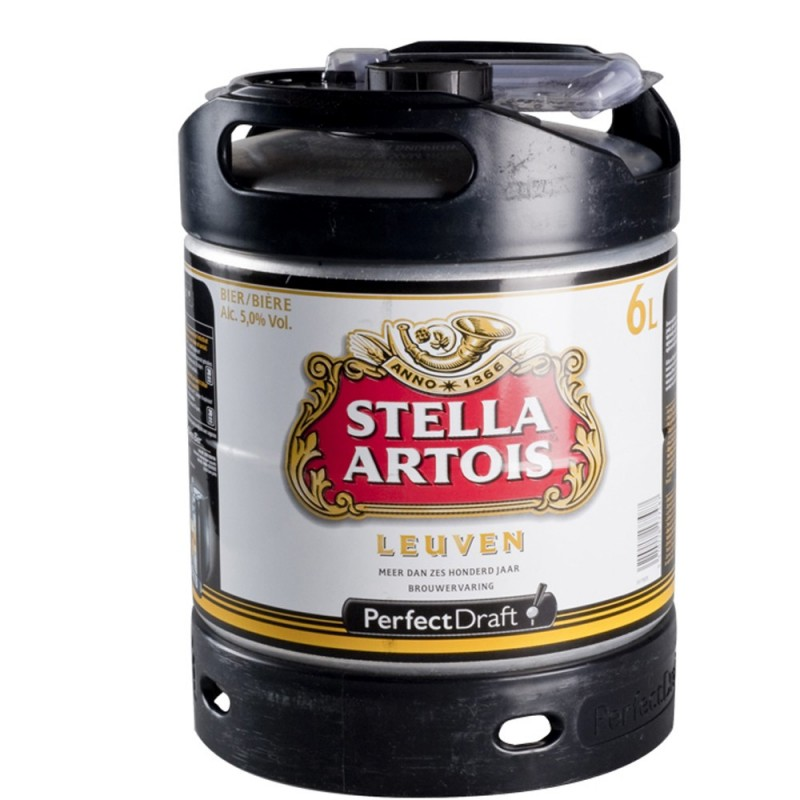 Mini Fût Stella Artois 6L (Perfect Draft) - Bière blonde