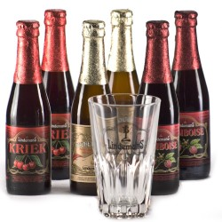 Lot de 6 Lindemans 25 cl + verre