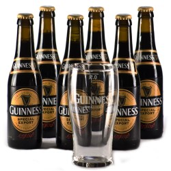 Lot de 6 Guinness 33cl + 1 verre