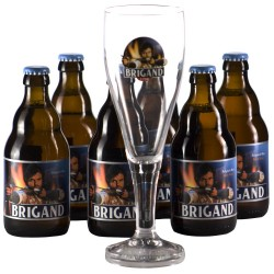 Lot de 6 Brigand 33 cl + 1 verre